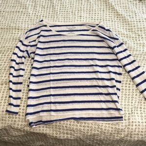 Royal blue striped long sleeve
